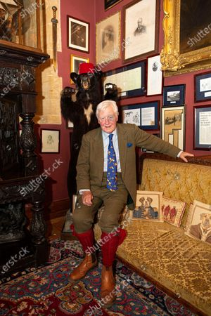 Editorial image of Sir Benjamin Slade on his 2,000-acre Maunsel House estate, Bridgwater, Somerset, UK - 26 Oct 2019