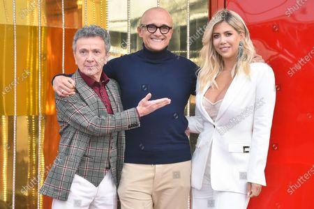 Alfonso Signorini, Enzo Ghinazzi, Wanda Nara