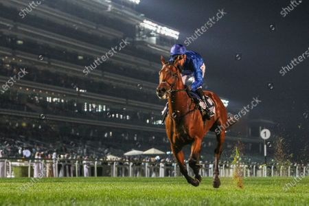 BENBATL (GB) ridden by Christophe Soumillion wins the 9F Group 2 the  Singspiel Stakes Presented By Longines Master, race 4, at Meydan Dubai World Cup Carnival.