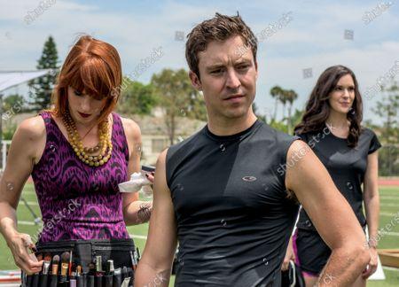 Stock Picture of Keri Safran as Maggie, Brian Jordan Alvarez as Patrick and Katie Savoy as Katherine Porter
