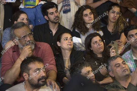 Stock Photo of Bollywood filmmakers Anubhav Sinha, Zoya Akhtar, Anurag Kashyap, actress Taapsee Pannu and others participate in a peaceful protest against the attack on New Delhi's Jawaharlal Nehru University campus, at Carter Road, on January 6, 2020 in Mumbai, India.