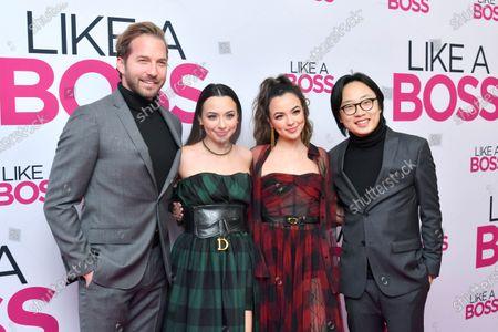 Stock Photo of Ryan Hansen, Veronica Merrell, Vanessa Merrell and Jimmy O. Yang