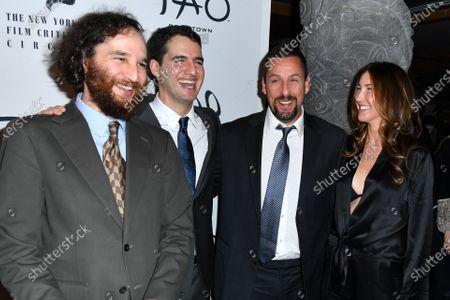 Joshua Safdie, Ben Safdie, Adam Sandler, and Jackie Sandler