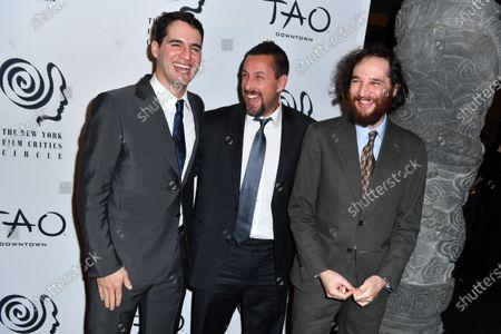 Joshua Safdie, Adam Sandler, and Ben Safdie