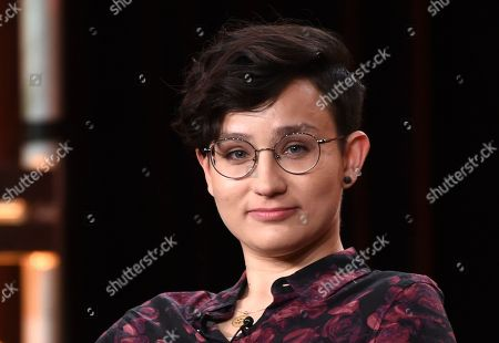 "Bex Taylor-Klaus, a cast member in the television series ""Deputy,"" takes part in a panel discussion on the show during the 2020 FOX Television Critics Association Winter Press Tour, in Pasadena, Calif"
