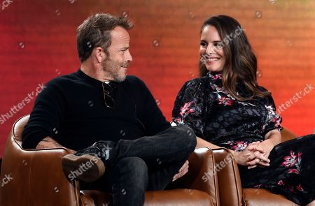 "Stephen Dorff, Yara Martinez. Stephen Dorff, left, and Yara Martinez, cast members in the television series ""Deputy,"" take part in a panel discussion on the show during the 2020 FOX Television Critics Association Winter Press Tour, in Pasadena, Calif"