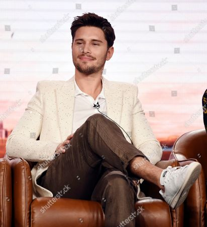 """Ronen Rubinstein, a cast member in the upcoming television series """"9-1-1: Lone Star,"""" takes part in a panel discussion during the 2020 FOX Television Critics Association Winter Press Tour, in Pasadena, Calif"""