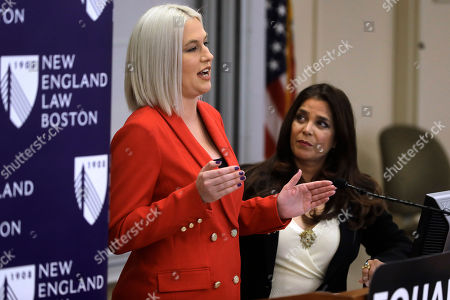 Natalie White, Kamala Lopez, Jake Bailey, Tom Brady, Rob Gronkowski. Natalie White, left, vice president of Equal Means Equal, faces reporters as Kamala Lopez, right, president of the organization, looks on during a news conference, in Boston, held to address issues about a lawsuit filed in U.S. District Court. Supporters of the Equal Rights Amendment filed the federal lawsuit in Massachusetts aimed at paving the way for adoption of the long-delayed constitutional amendment