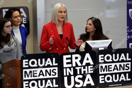 Stock Photo of Jake Bailey,Tom Brady,Rob Gronkowski. Vice President of Equal Means Equal Natalie White, center right, faces reporters as plaintiff Katherine Weitbrecht, left, legal counsel Wendy Murphy, second from left, and President of the organization Kamala Lopez, right, look on during a news conference, in Boston, held to address issues about a lawsuit filed Tuesday in U.S. District Court, in Boston. Supporters of the Equal Rights Amendment filed the federal lawsuit in Massachusetts aimed at paving the way for adoption of the long-delayed constitutional amendment. Weitbrecht is one of three plaintiffs in the lawsuit along with Equal Means Equal, and The Yellow Roses