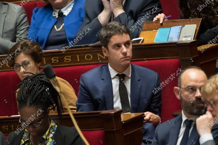French Junior Education Minister, Gabriel Attal during the weekly session of questions to the government
