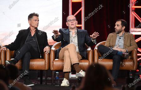 Rob Lowe, Tim Minear and Rashid Raisani