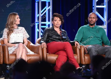 Maggie Lawson, Tisha Campbell and Finesse Mitchell