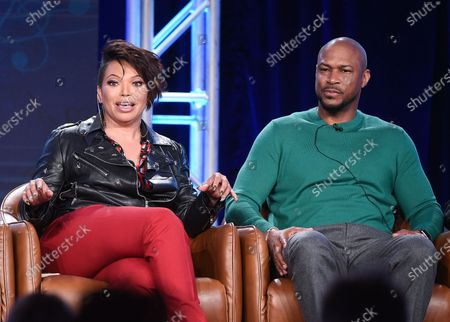 Tisha Campbell and Finesse Mitchell