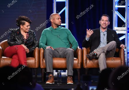 Tisha Campbell, Finesse Mitchell and Lon Zimmet