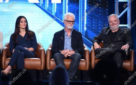 Fernanda Andrade, John Slattery and Manny Coto
