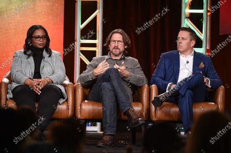 Kimberly Ann Harrison, David Ayer and Chris Long