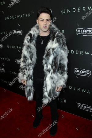 Editorial picture of 'Underwater' film premiere, Arrivals, Alamo Drafthouse Cinema Downtown Los Angeles, USA - 07 Jan 2020