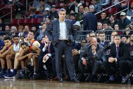 Chestnut Hill, MA, USA; Virginia Cavaliers head coach Tony Bennett looks on during the NCAA basketball game between Virginia Cavaliers and Boston College Eagles at Conte Forum