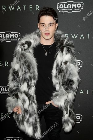 Internet personality Gustavo Rocha arrives at the special fan screening of Underwater at the Alamo Drafthouse Cinema in Los Angeles, California, USA, 07 January 2020.