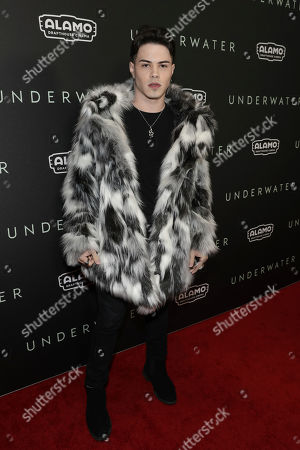 """Stock Picture of Gustavo Rocha attends the special screening of """"Underwater """" at the Alamo Drafthouse Cinema, in Los Angeles"""