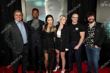 Stock Image of Peter Chernin, Producer, Mamoudou Athie, Jessica Henwick, Kristen Stewart, William Eubank, Director, John Gallagher Jr.