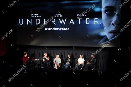 Stock Image of Andres Muschietti, Moderator, William Eubank, Director, Kristen Stewart, John Gallagher Jr., Jessica Henwick, Mamoudou Athie