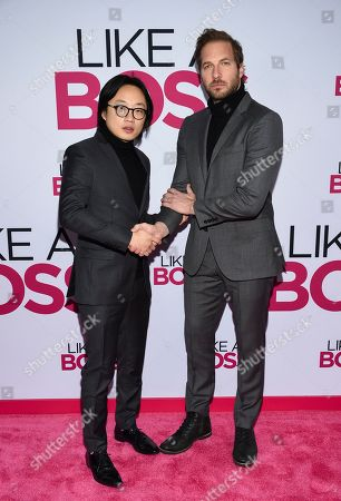 """Jimmy O. Yang, Ryan Hansen. Actors Jimmy O. Yang, left, and Ryan Hansen attend the world premiere of """"Like a Boss"""" at the SVA Theatre, in New York"""