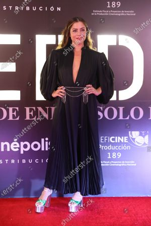 Paulina Davila poses during the red carpet of the movie 'Perdida', in Mexico City, Mexico, 07 January 2020.
