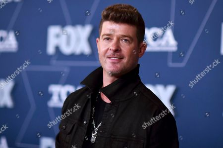 Robin Thicke attends the FOX All Star party at the Television Critics Association Winter press tour, in Los Angeles
