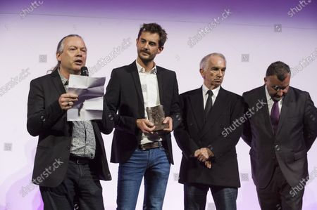 Stephane Donikian founder of the company Golaem Prix de l'Innovation and Alain Terzian President of the Academy of Cesar