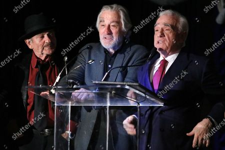 Joe Pesci, Robert De Niro and Martin Scorsese