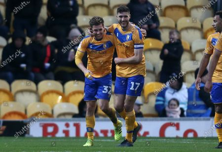 Mansfield Town's Danny Rose celebrates the second goal