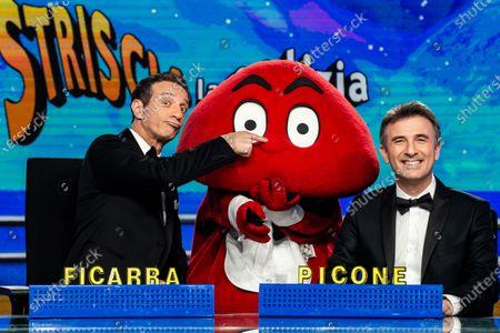 Editorial image of 'Striscia la notizia' TV show, Milan, Italy - 08 Jan 2020