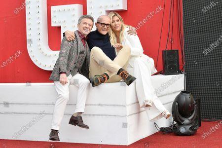 Stock Picture of Enzo Ghinazzi, Alfonso Signorini, Wanda Nara