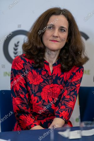 Secretary of State for Environment, Food, and Rural Affairs, Theresa Villiers MP at Oxford Farming Conference. Oxford Farming Conference, day 2. Held at Oxford Examination Schools, Oxford University, between 7-9 January 2020.