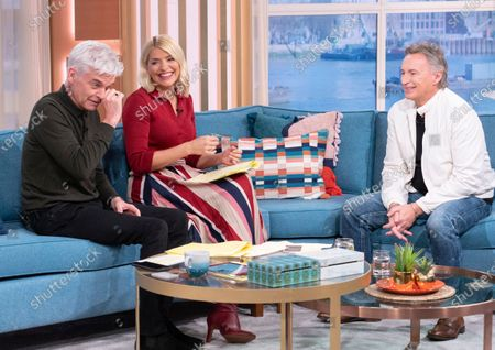 Stock Image of Phillip Schofield, Holly Willoughby, Robert Carlyle