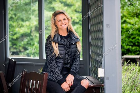 Stock Photo of Carly Booth poses for a portrait at the Miller & Carter Grill in Wilmslow, Cheshire