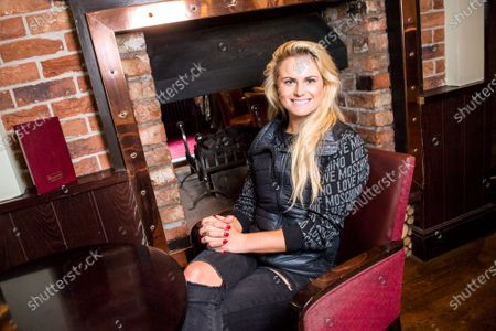 Carly Booth poses for a portrait at the Miller & Carter Grill in Wilmslow, Cheshire