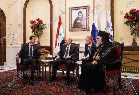 Editorial image of Russian President Vladimir Putin visit to Damascus, Syria - 07 Jan 2020