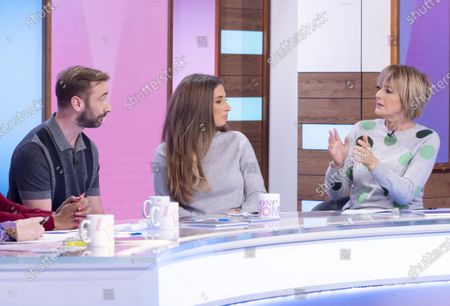 Stock Photo of Charlie Condou, Stacey Solomon and Jane Moore