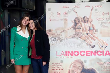 Spanish actresses and cast members of the movie 'La inocencia. La culpa no existe' (lit. The innocence. Guilt doesn't exist), Carmen Arrufat (L) and Laia Marull (R), smile during the photocall in Madrid, Spain, 08 January 2020. The film will premiered at Spanish cinemas next 10 January.