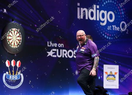 Stock Image of Andy Hamilton during the BDO World Professional Championships at the O2 Arena, London