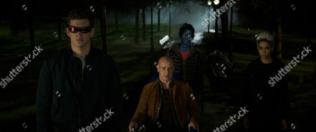 Tye Sheridan as Scott Summers/Cyclops, James McAvoy as Professor Charles Xavier, Kodi Smit-McPhee as Kurt Wagner/Nightcrawler and Alexandra Shipp as Ororo Munroe/ Storm