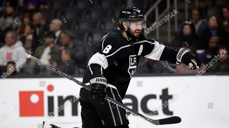 Los Angeles Kings' Drew Doughty during an NHL hockey game against the Columbus Blue Jackets, in Los Angeles