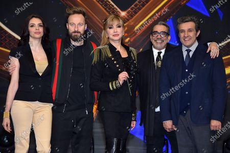 Milly Carlucci, Ilenia Pastorelli, Francesco Facchinetti, Guillermo Mariotto, Flavio Insinna
