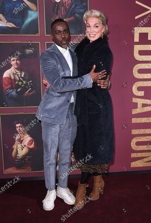 Ncuti Gatwa and Hannah Waddington