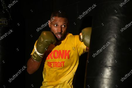 Kell Brook during a Media Workout at 12x3 Gym on 8th January 2020