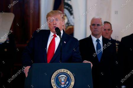 Editorial photo of Donald Trump Address to the Nation on Iran attack, Washington DC, USA - 08 Jan 2020
