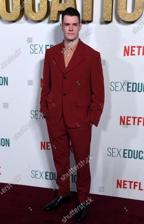 Connor Swindells arrives for the World Premiere of season 2 of 'Sex Education' at Genesis Cinema in London, Britain, 08 January 2020. The television show will be available on the Netflix steaming service on 17 January 2020.