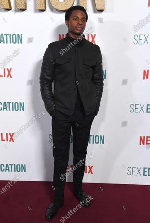 Kedar Williams-Stirling arrives for the World Premiere of season 2 of 'Sex Education' at Genesis Cinema in London, Britain, 08 January 2020. The television show will be available on the Netflix steaming service on 17 January 2020.